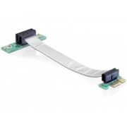 Riser Card PCI Express x1 > x1 with flexible cable 13 cm left insertion