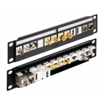 Delock 10″ Keystone Patch Panel 12 Port black
