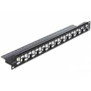 Delock 19″ Keystone Patch Panel 24 Port staggered black