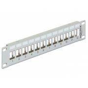 Delock 10″ Keystone Patch Panel 12 Port metal grey