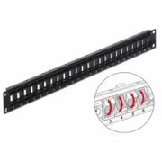 Delock 19″ Keystone Patch Panel 24 Port rotatable black