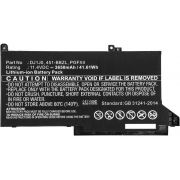 CoreParts 42Wh Dell Li-ion 11.4V 3650mAh Black akku