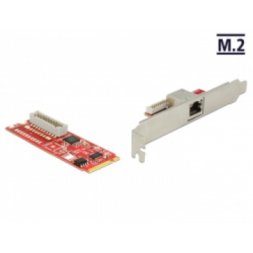 Delock M.2 Adapter M.2 > 1 x RJ45 Gigabit LAN ports (USB 3.0)