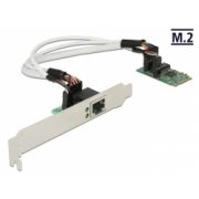 Delock Converter M.2 Key B+M male > 1 x Gigabit LAN – Low Profile