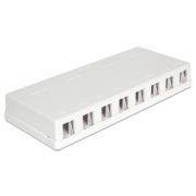 Delock Keystone Surface Mounted Box 8 Port