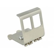 Delock Keystone Metal Mounting 2 Port for DIN rail