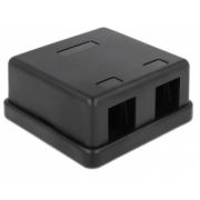 Delock Keystone Surface Mounted Box 2 Port black