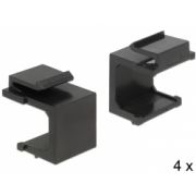 Delock Keystone cover black 4 pieces