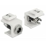 Delock Keystone module DC 5.5 x 2.1 mm socket