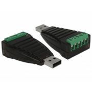 Delock USB Type-A to Serial RS-422/485 terminal block with surge protection 600 W konvertteri
