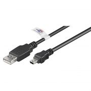 USB A - USB Mini B 5-pin kaapeli 1,0m