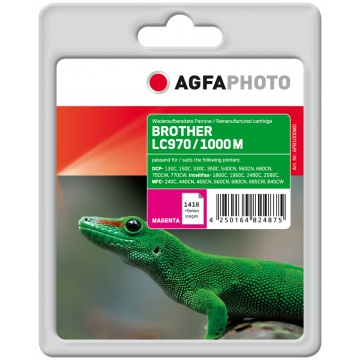AGFAPHOTO BROTHER LC970/1000 MAGENTA mustekasetti