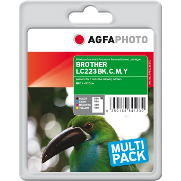 AgfaPhoto BROTHER LC223 BK,C,M,Y multipack