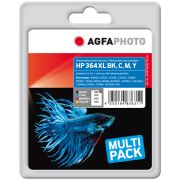 AGFAPHOTO HP 364XL, musta, CMY MULTIPACK