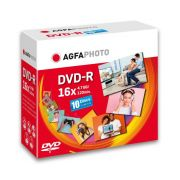 AgfaPhoto DVD-R 4,7GB 16x Speed, Slimcase 10 kpl