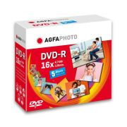 AgfaPhoto DVD-R 4,7GB 16x Speed, JewelCase 5 kpl