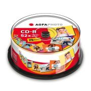 AgfaPhoto CD-R 700 MB 52x Speed, Cakebox 25 kpl
