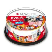 AgfaPhoto DVD-R 4,7GB 16x Speed Cakebox 25 kpl
