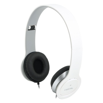 LogiLink Stereo High Quality headset, valkoinen