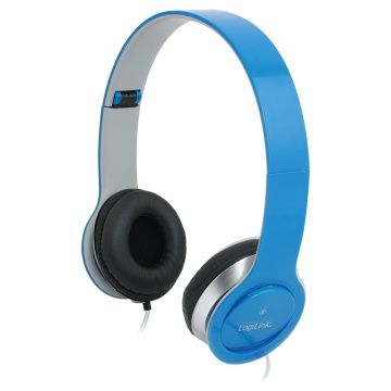 LogiLink Stereo High Quality headset, sininen