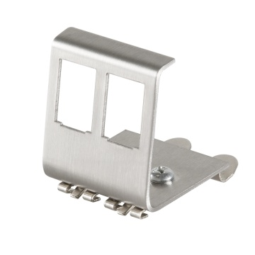 Keystone DIN-Rail Adapter for 2 RJ45 Modules, metal
