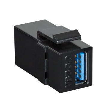 Keystone Coupler USB 3.0-A F/F, black