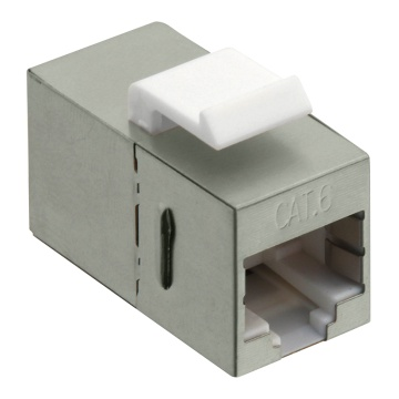 Keystone Coupler Cat.6 STP, 2xRJ45, metallized
