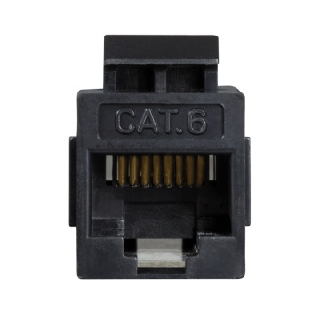 Keystone Coupler Cat.6 UTP, 2xRJ45, black