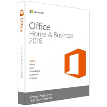 Microsoft Office Home and Business 2016 UK (ei mediaa)