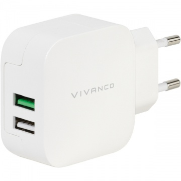 Vivanco Dual Charger 2x USB 2.4A