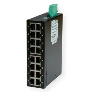 ROLINE Industrial Switch, 16x RJ-45, unmanaged