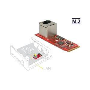 Converter M.2 Key A+E male > 1 x RJ45 Gigabit LAN port vertical
