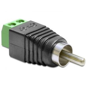 Riviliitin adapteri 2 pin 5mm - RCA uros