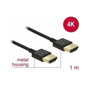 Delock High Speed HDMI with Ethernet 0,5m 4K 60 Hz Slim kaapeli