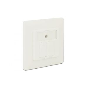 Delock Keystone Wall Outlet 2 Port compact