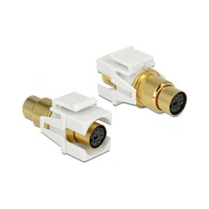 Delock Keystone module Mini-DIN 6 pin female > female gold plated
