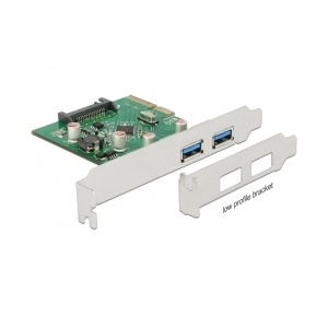 Delock PCI Express x4 Card 2 x USB 3.1 Gen 2 Type-A