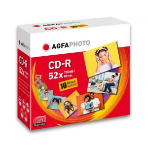 AgfaPhoto CD-R 700 MB 52x Speed, Slimcase 10 kpl