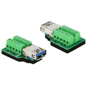 Riviliitin adapteri 10 pin 3.81mm - USB 3.0 Type-A  naaras